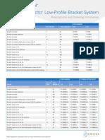 Maestro® Low-Profile Bracket System