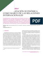 Globalizacion Economica Como Marco de Las Relaciones Internacionales