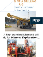 Design of a Diamond Drilling Rig