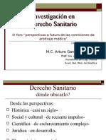 Investigación en Derecho Sanitario. Propuestas AGV.
