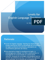 Levels for English Language Teaching