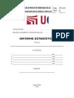 Informe Estadistico 2015