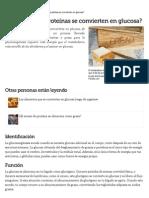 ¿La Grasa y Las Proteínas Se Convierten en Glucosa_ _ EHow en Español