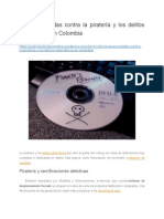 Nuevas medidas contra la piratería y los delitos cibernéticos en Colombia