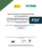 Encuesta Europea a Centros Escolares TIC en Educacion INTEF Abril 2013