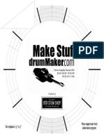 Percussion - 17x17 Drum Layout Template