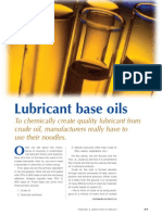 Lubricant Base Oils