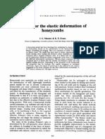 Models for Elastic Deformation of Honeycombs