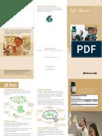 IgG Boost Trifold Brochure