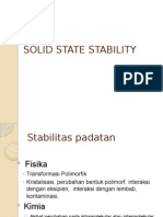 Solid State Stability