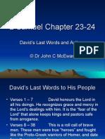 2 Samuel Chapter 23-24