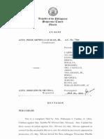 Catalan v. Silvosa (AC No. 7360) Decision en Banc July 24, 2012