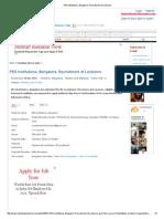 PES Institutions, Bangalore, Recruitment of Lecturers