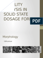 Stability Analysis in Solid State Dosage Forms