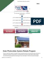 Poudre Valley REA - 2015 Photovoltaic Rebate Program