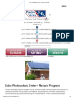 Poudre Valley REA - 2015 Photovoltaic Rebate Program