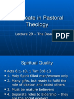Pastoral Theology Lect 29