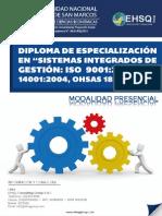Diploma de Especializacion en Sistemas Integrados de Gestion Iso 9001, Iso 14001, Ohsas 18001