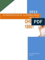 Interpretacion de La Norma Ohsas 18001.2007 ( Sistema de Gestion de Seguridad y Salud en El Trabajo)