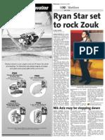 Ryan Star set to rock Zouk