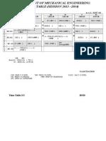 Mech-time Table First Sem Mech 13-14 Second Shift Legal Display