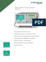 SpectAnalyser HM5510 Data