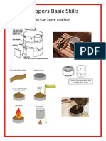 Preppers Basic Skills - Tin Can Stove and Fuel