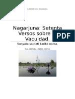 Nagarjuna Setenta Versos Sobre La Vacuidad.
