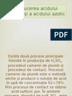 Producerea Acidului Sulfuric Și a Acidului Azotic