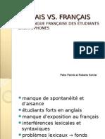 Anglais Vs Français