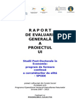 Raport de Evaluare Generala a Proiectului