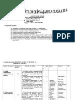 Proiectarea Unitatilor de Invatare La Clasa a Xia an Scolar 20112012