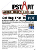 JUMPSTART Your Career! May 2007, VOL. 4