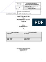 User Requirements for a Water for Injection System