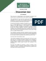 Draconian Law