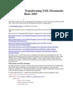Reading and Transforming XML Documents Using Visual Basic 2005