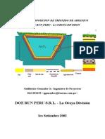 Manejo y Disposicion de Trioxido de Arsenico en Doe Run Perú