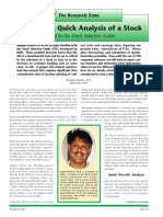 Quick Stock Analysis