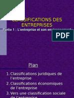 CLASSIFICATIONS DES ENTREPRISES