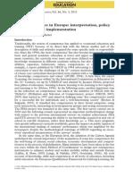 Key Competencies in Europe