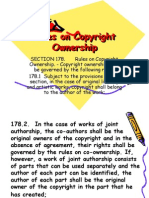 Rules on Copyright Rules on Copyright Ownership