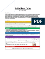 weekly news letter 25th to 29th jan