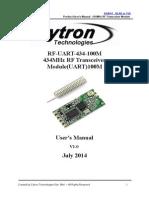 RF UART 434 100MUsersManual