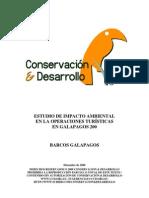 Estudio de Impacto Ambiental en Operaciones Turisticas en Galapagos 2000, Make a donation@ccd.org.ec / Haga una donación