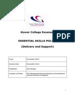 Essential Skills Policy