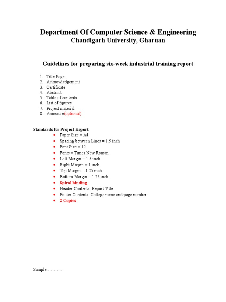 how to write acknowledgement for industrial training report