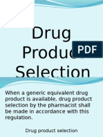 Drug Product Selection Revised