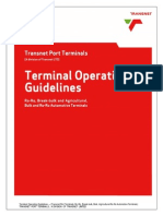 Terminal Operating Guidelines for Ro-Ro, Break-Bulk and Agricultural, Bulk and Ro-Ro Automotive Terminals