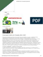 Sinpospetro Go - Convenção Coletiva 2014 _ 2015
