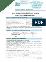 Msds_hipoclorito de Sodio